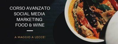 Corso Social media marketing per il Food & beverage a Lecce